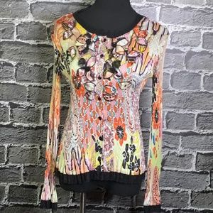 Alberto Makali Crinkle Button Front Gorgeous Top